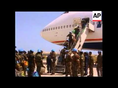 Somalia - Indian UN Troops Leave Mogadishu