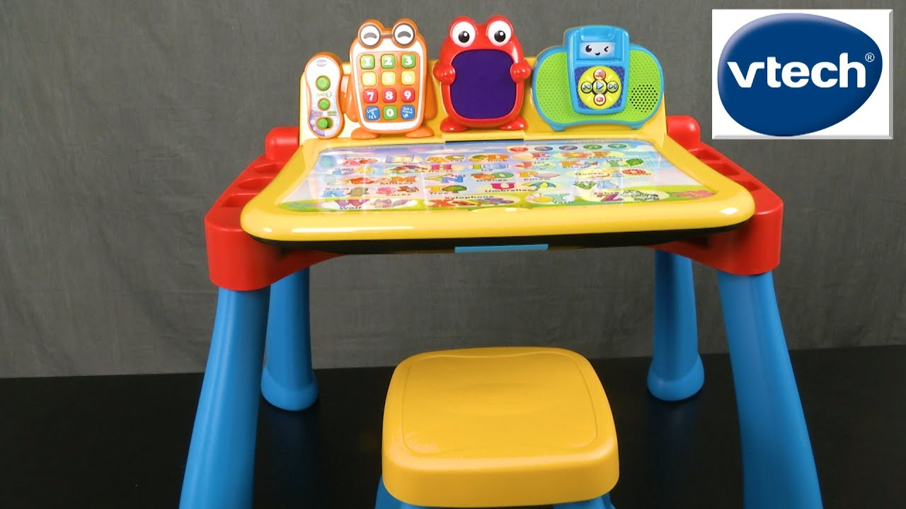 Touch And Learn Activity Desk Deluxe From Vtech Youtube
