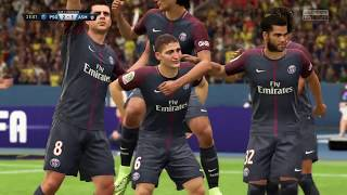FIFA 18 - PSG vs AS Monaco Ligue 1 Full Gameplay