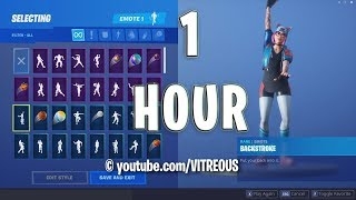 FORTNITE BACKSTROKE EMOTE 1 HOUR (Skin Showcase)