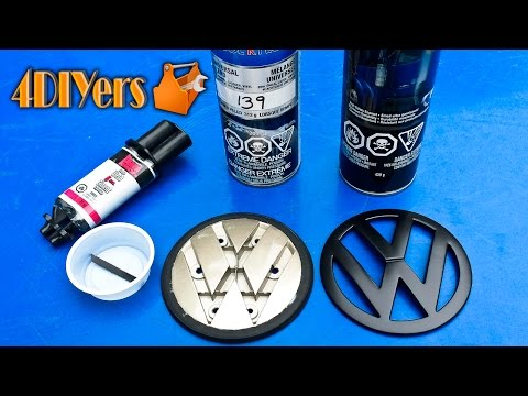 Vw Golf Mk4 Carbon Fiber Effect Grill Badge Installation
