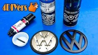 diy volkswagen golf mkiv hatch emblem disassembly painting