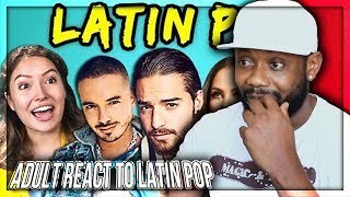 ADULTS REACT TO LATIN POP (Maluma, J Balvin, Sofía Reyes) REACTION!!!