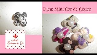 Dica: Mini flor de fuxico – Ateliê Essência de Lis