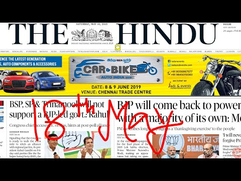 The Hindu Newspaper 18th May 2019 Complete Analysis