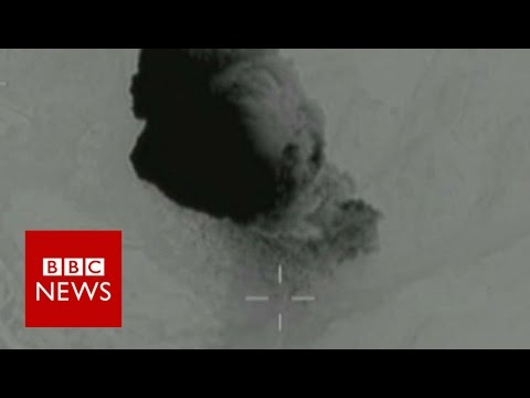 Moment Mother Of All Bombs struck IS cave systems - BBC News