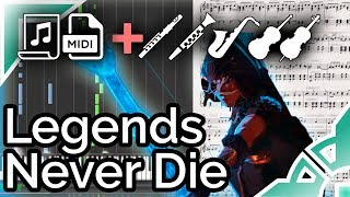 Legends Never Die (Worlds 2017 Song) - League of Legends (Synthesia Piano Tutorial)