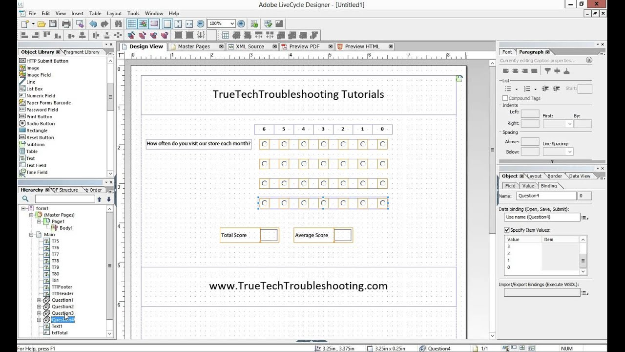 adobe livecycle designer tutorial pdf