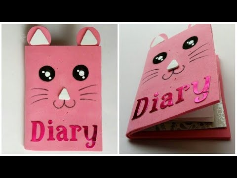 DIY Cute Diary || Diary Cover || Handmade Diary || The Blue Sea Art