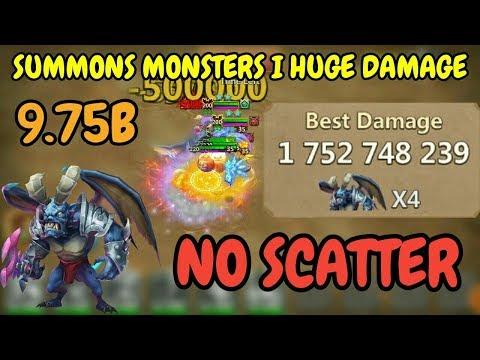 Archdemon L Summons Monsters L Huge Damage L 9.75B L Castle Clash