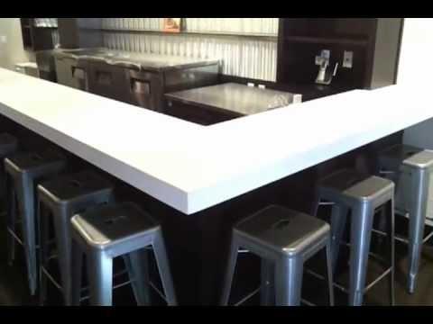 Corian Cirrus White Custom Countertops at Vini Wine Bar - Davis ...