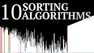 10 Sorting Algorithms Visualized