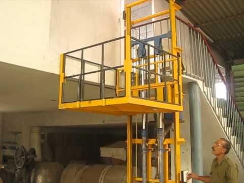 Hydraulic goods lift make by Twin lift Industries (+91 9311422158) , At: www.twinliftindustries.com