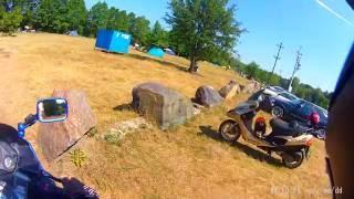 Поездка на озеро Белое Лунинецкий р-н Брестская обл. Июль 2016 Kawasaki ZZ-R600
