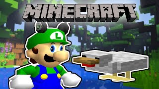 Luigi Plays MINECRAFT but if I see a CHICKEN the video ENDSSS