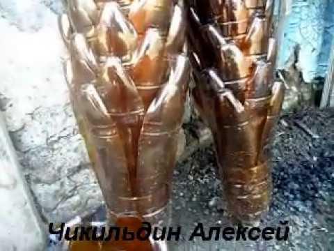 Как сделать пальму из бутылок пошаговая инструкция