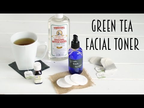 DIY Green Tea Facial Toner   Tips for Clear Skin