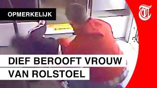 Laffe beroving in trein gefilmd