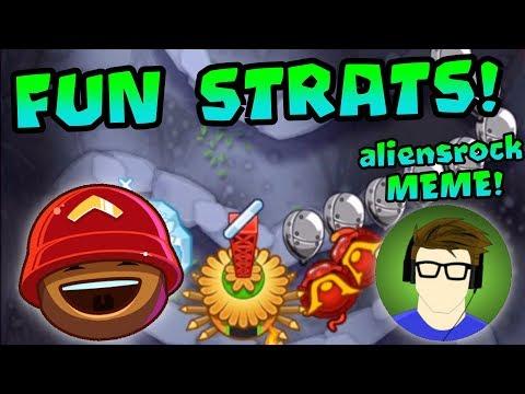 Fun/Weird Strategies in Dreadbloon! aliensrock MEME INTRO! - Bloons TD Battles