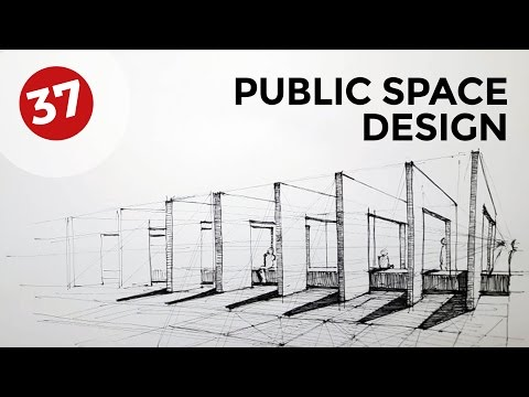 Drawing Public Space Design | Daily Architecture Sketches #37