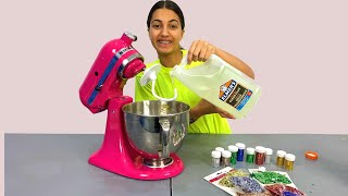 Making Giant Slime in a Food Mixer