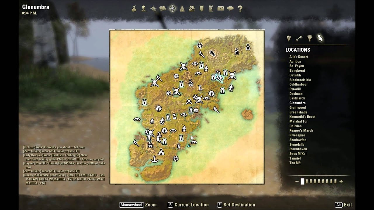 ESO: Glenumbra Treasure Map I Location