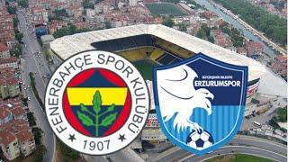 Fenerbahçe 3-1 Erzurumspor ! Maç Özeti,Maç Analizi. Kadıköy'de Zevkli Mücadelede Kanarya Güldü..