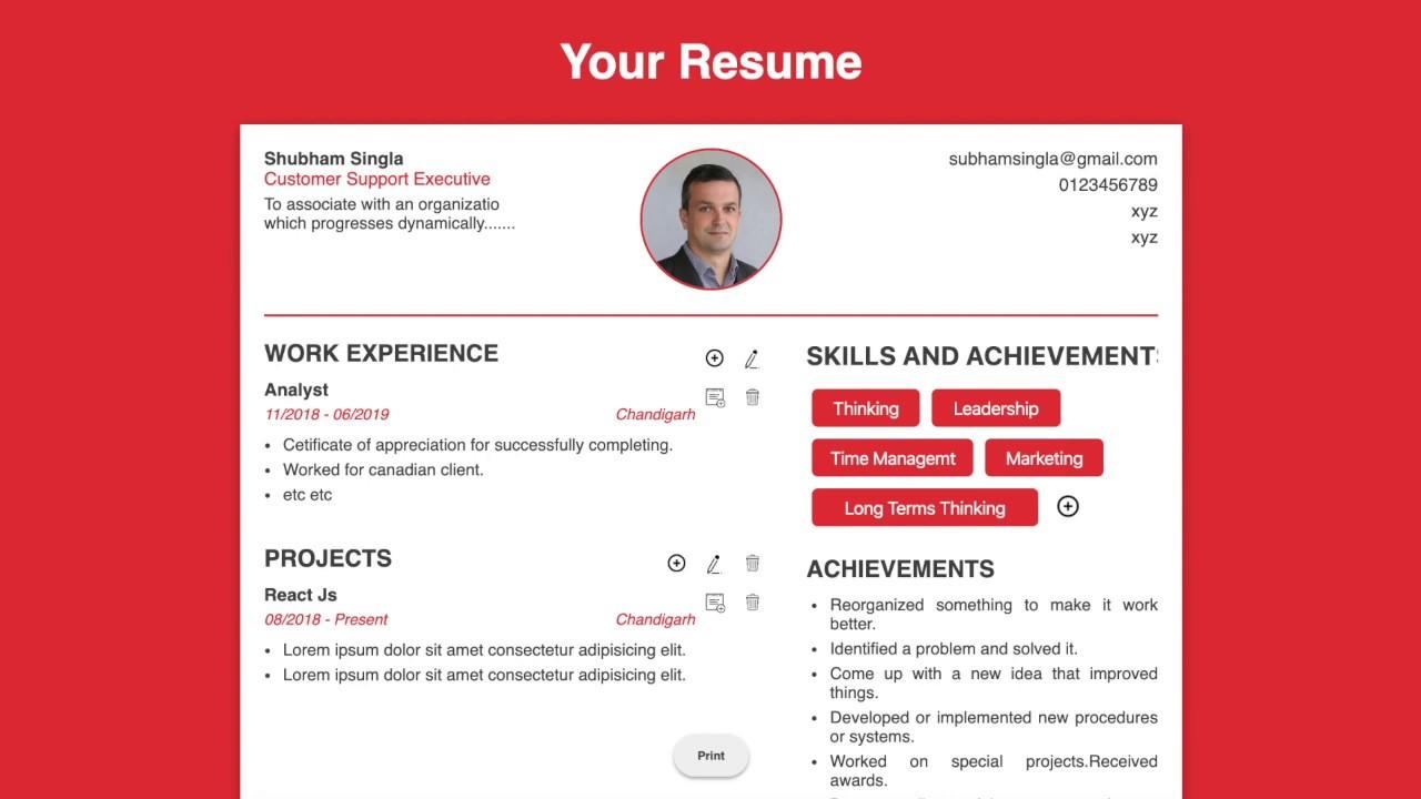 Resume Tips Tricks 2020 Online Free Resume Builder Create A