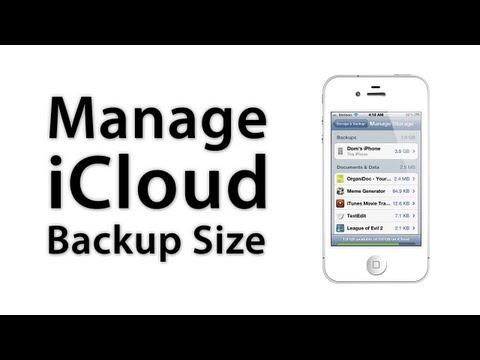 [iOS Advice] Decrease Your iCloud Backup Size