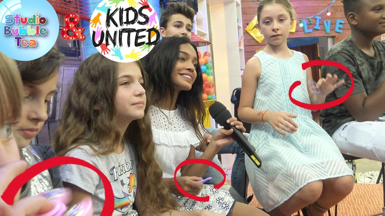 Exclu Kids United Amp Studio Bubble Tea Amp Hand Spinners