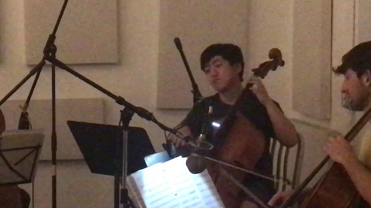 SPLNTRD Wood cello ensemble recording @shostoco studios