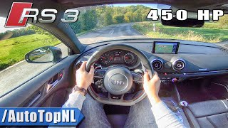 AUDI RS3 8V ATM Chiptuning 450hp POV Test Drive by AutoTopNL