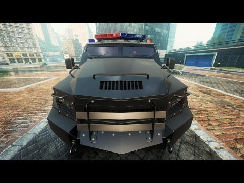 SWAT Truck Police Chase NFS Most Wanted 2012