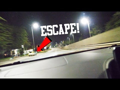 *FOOTAGE* ESCAPING FROM THE POLICE!