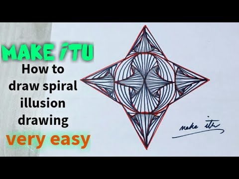 HOW TO DRAW SPIRAL ILLUSION DRAWING