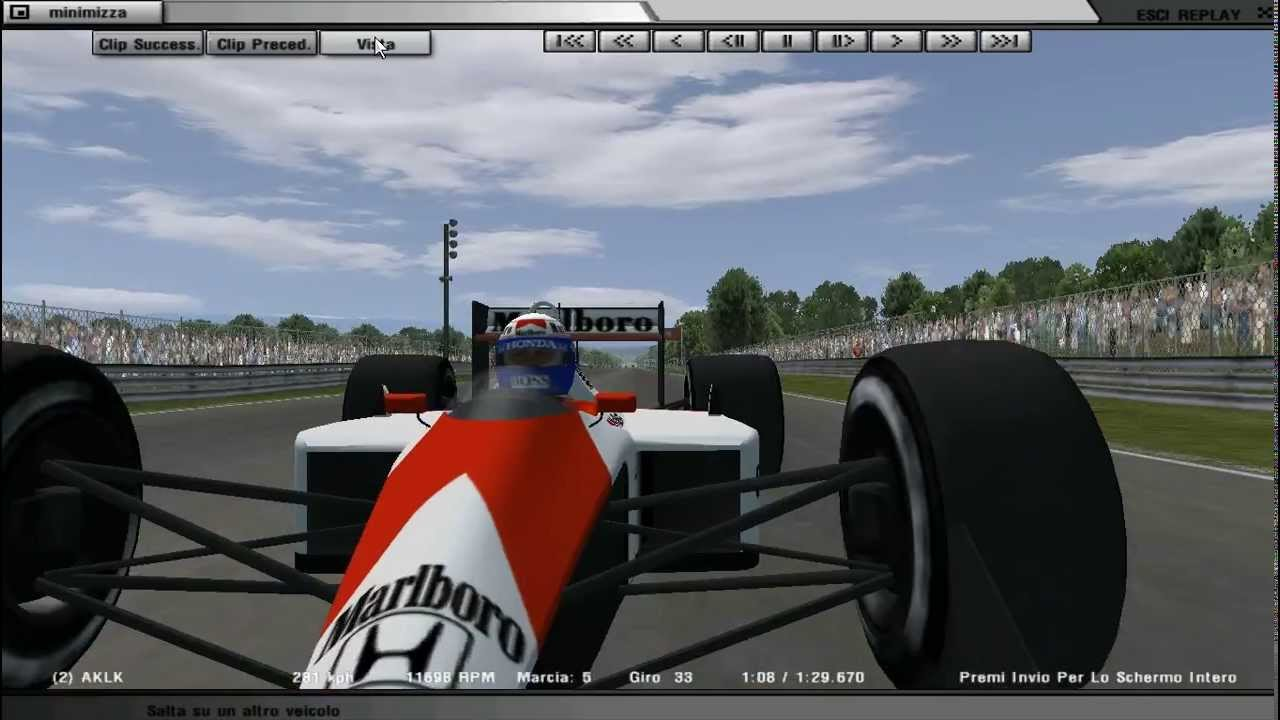 rFactor F1 1988 Monza GHOST 1:29:585 vs 1:29:671 - YouTube