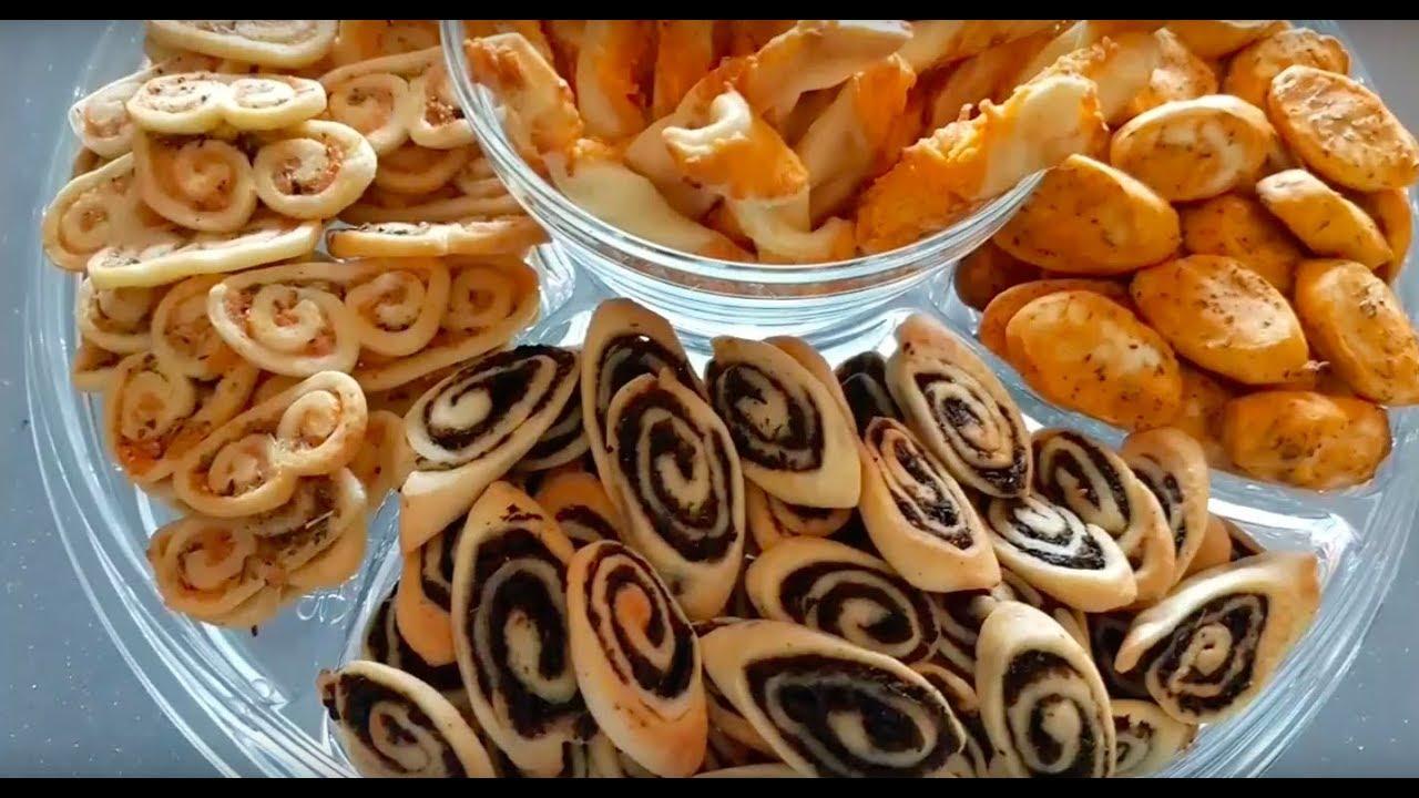 5 Assortiments De Fekkas Salé Avec La Même Pâte Pour Achoura
