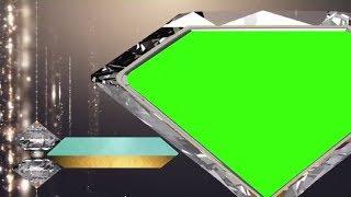 DIAMANT-FORM-RAHMEN MIT GRÜN CHROMA || DMX-HD-BG 253