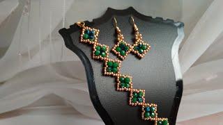 Tutorial - a set of jewelry. Браслет и серьги