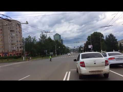 Кортеж президента на ул. Московской, Киров, 5.08.2017