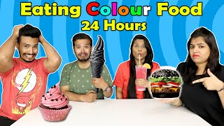 Eating Colour Food For 24 Hours Food Challenge| Part 1