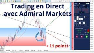 #Dow Jones CFD + 11 points de baisse - Trading en direct avec Admiral Markets le 25/09