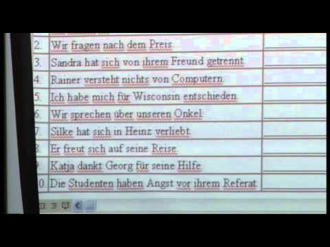 German 2312 - Ch. 11 - Verb-Preposition Combination