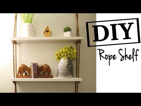 How to Make a Rope Shelf ~ Easy DIY Rope Shelves