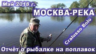 Риболовля на Москва-річці в травні 2018 р. на поплавок Cralusso Bolo