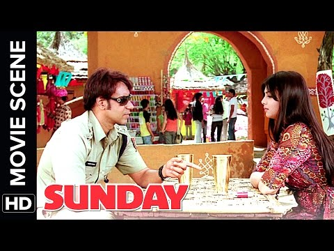 Ajay Devgn takes Ayesha Takia on a Date  Sunday  Movie   Comedy