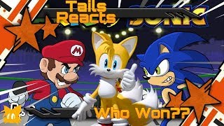 Tails Reacts to Sonic vs Mario Cartoon Beatbox Battle - Who Won?