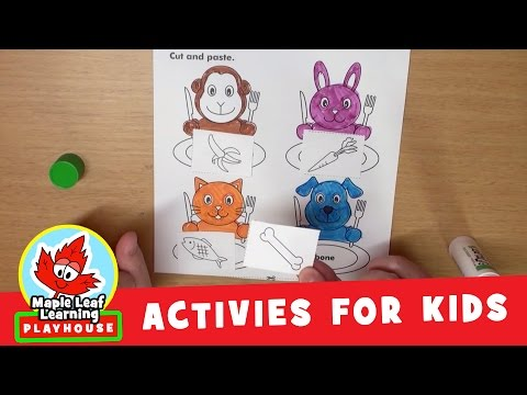 Feed Animals Activity for Kids | Maple Leaf Learning Playhouse