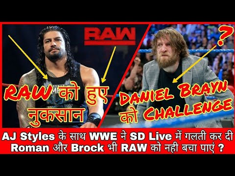 Bad News For RAW || Who Challenged Daniel Brayn || WWE Mistake During Smackdown Live || Hindi
