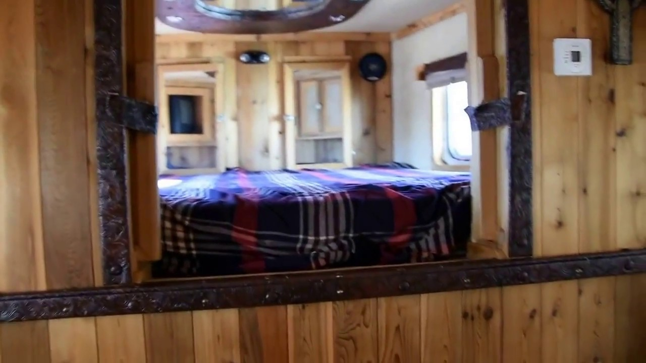 2004 C C 4 Horse Trailer With Bunk Beds Youtube